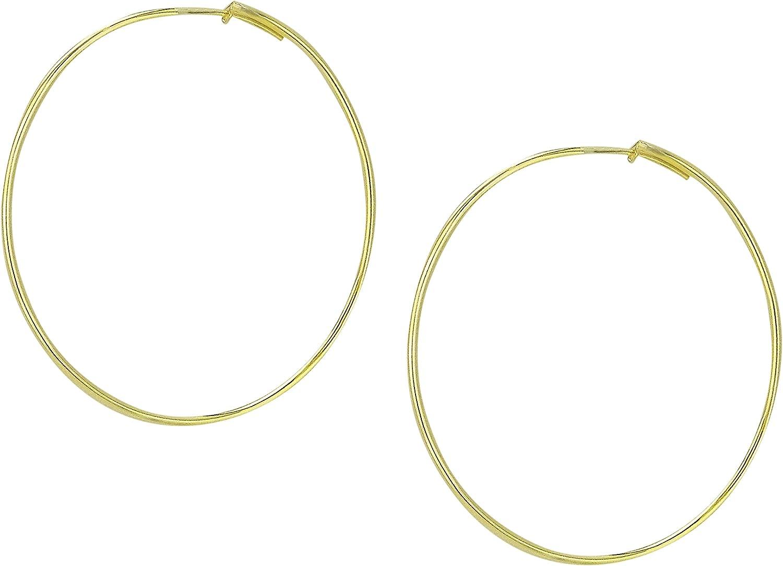 Sheila Fajl Lisa Featherweight Hoop Earrings in Polished Gold Plated