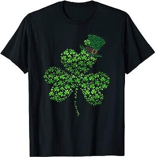 Diamond Shamrock Leprechaun Hat T-Shirt St Patricks Day Tee