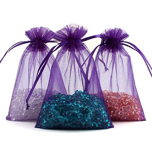 39e7eefc3e29 Purple Organza Bags: Amazon.com