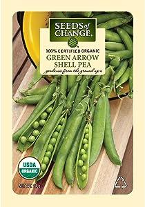 Seeds of Change Certified Organic Green Arrow Shell Pea , 14 g