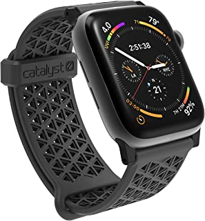 Catalyst Compatible with Apple Watch Band 42mm 44mm, Hypoallergenic, Breathable Wristband, Soft Silicone Replacement Bands, Sport Band for iWatch Series 1,2,3,4,5 Sleath Gray