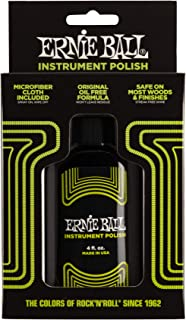 Ernie Ball Instrument Polish with mircofiber cloth