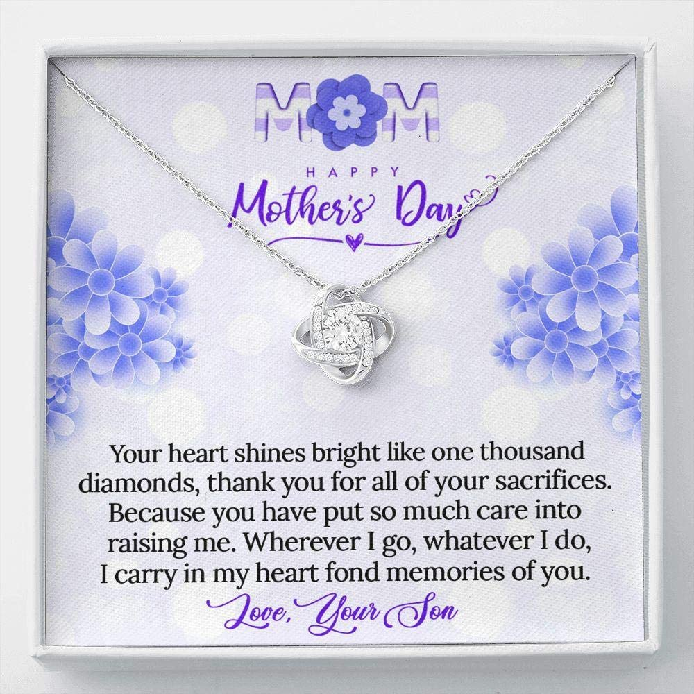KORAFINA Bargain Customized to Mom from Gift Son Max 78% OFF Necklace Knot Neckl