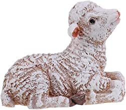Paul Bec Action Figure,Decorative Resin Sitting Lamb Statue Sheep Statue Home Garden Decor Ornament