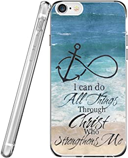 Case for Phone 6S & MUQR Flexible Gel Silicone Slim Drop Proof Protection Cover Compatible with iPhone 6/6S & Bible Verses Christian Theme Anchor
