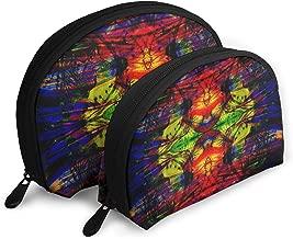 Mr.Hollingsworth Portable Bags Trippy Acid Wallpaper Hd Pics Widescreen Trip Desktop For Cartoon Coin Purse Travel Bag One Big One Small Cosmetic Bag