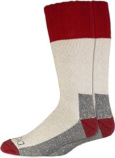 Dickies Men's 2 Pack High Bulk Acrylic Thermal Boot Crew Socks - red - Large