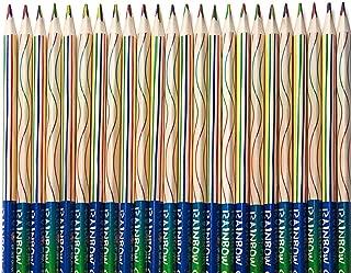 ThEast 30 PCS Rainbow Color Pencils 4-in-1 Color Pencils Assorted Colors for Art Drawing, Coloring, Sketching,Pencils For Drawing Stationery (Rainbow color 30PCS)