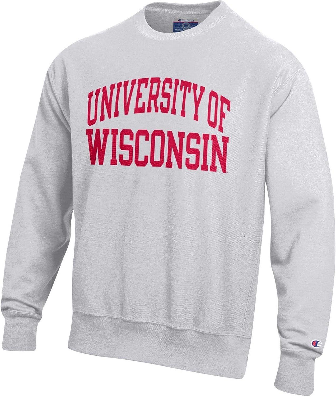 Champion NCAA Herren NCAA Herren Rückseite Weave Crew, Herren, NCAA Men's Reverse Weave Crew, grau, Large