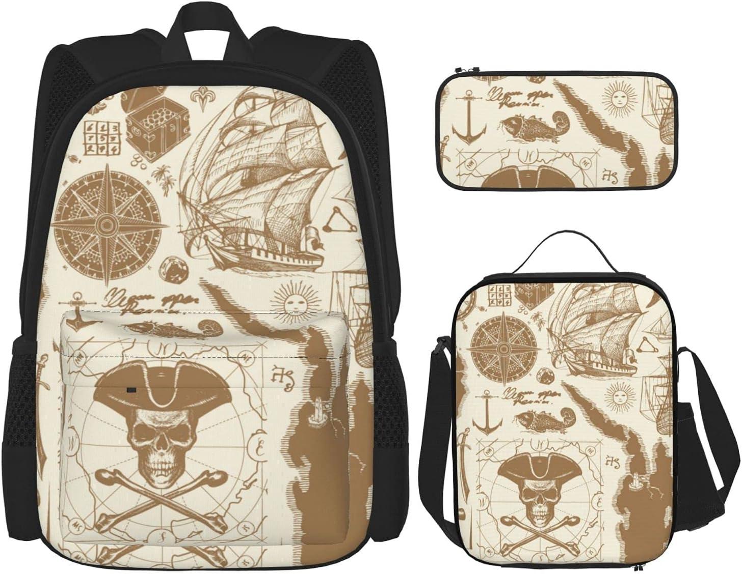 Skull Crossbones Pirate Flag Bookbags NEW Many popular brands School Sailboats Backpacks