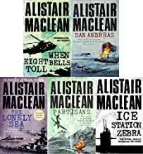 Alistair MacLean 5 Book set collection When Eight Bells Toll, San Andreas, The Lonely Sea, Partisans & Ice Station Zebra
