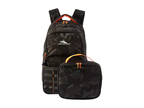 Black Joel Mochila Sierra Kit Electric High Orange Shattered Camo Lunch qRB0Uw5