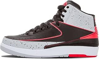 Nike air Jordan 2 Retro Mens hi top Basketball Trainers 385475 Sneakers Shoes jumpman23 (UK 8.5 US 9.5 EU 43, Black Infrared 23 Pure Platinum White 023)