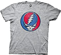 Ripple Junction Grateful Dead Adult Unisex Steal Your Face Vintage Light Weight Crew T-Shirt
