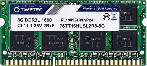 Timetec Hynix IC 8GB DDR3L 1600MHz PC3L-12800 غیر ECC Unbuffered 1.35V CL11 2Rx8 دو رتبه 204 پین SODIMM لپ تاپ نوت بوک حافظه کامپیوتر RAM ماژول ارتقاء (8GB)
