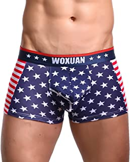 Kerio Men's Sexy USA American Flag G-String Sexy Underwear