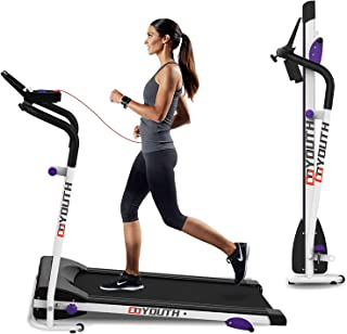 Folding Treadmill Electric Motorized Walking Running Jogging Machine with Safety Lock,Device Holder for Home Office Workout Indoor Exercise