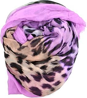 Echo Design womens Echo Soft Cheetah Designer Scarf oblong