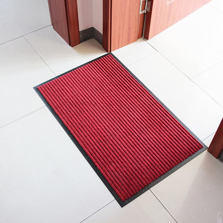 Door mat,Doormats Front Door Rug The Door Kitchen Anti-Slipping mats-red 60x90cm(24x35inch)