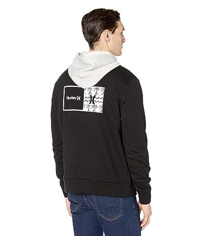 Hurley Natural HD Fleece Full Zip Hoodie (Black) Men