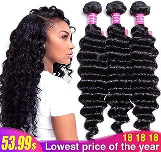 Best 18 inch deep wave hair Reviews
