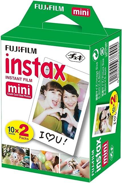 Fujifilm Instax Mini Brillo - Pack de 40 Películas Fotográficas Instantáneas (40 hojas) Color Blanco