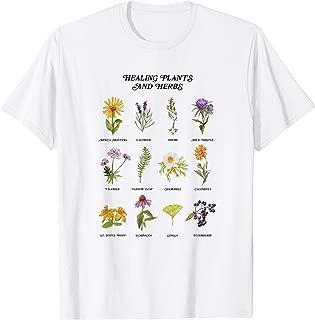 Healing Plants and Herbs Wild Flower Bohemian Garden T-Shirt