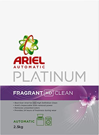 Ariel Automatic Platinum Laundry Powder Detergent Fragrant HD Clean 2.5 kg, Pack of 1