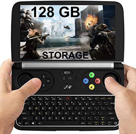 "GPD Win 2 [128GB M.2 SSD Storage] 6"" Mini Handheld Video Game Console Portable Windows 10 Gameplayer Laptop Notebook Tablet PC CPU M3-7y30 lntel HD Graphics 615 8GB/128GB (GPD Win 2 128GB)"