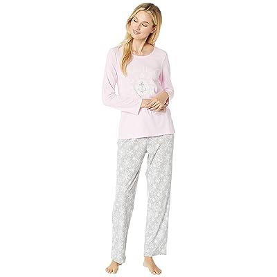 Nautica Graphic Pajama Set (Grey Print) Women