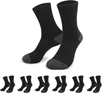 YouShow Trainer Socks Cushioned 6 Pairs Mens Womens Athletic Breathable Cushion Casual Performance Socks