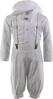 Boys Linen Vintage Knicker Outfit with Suspenders and Hat