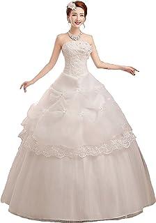 ウェディングドレス ベルライン ビスチェタイプ 編上げ 純白