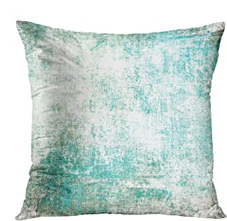 Qryipd Throw Pillow Cover Comfortable Print Colorful Grunge Pattern Abstract Messy Living Room Car Sofa Bedroom Polyester Hidden Zipper Pillowcase 18x18 Inch Home Decor Cushion Case
