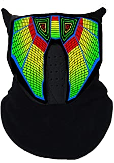 Music Light Up Cool Mask Rave Mask Led with Sound Active for Dancing,Riding,Skating,Party and Any Festival