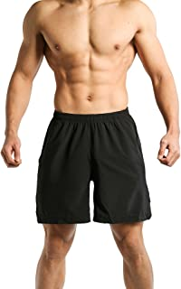 Tough Mode Mens Ultra Light WOD Shorts Bodybuilding Workout MMA Crossfit Training Gym Running Lifting Shorts with Side Pocket