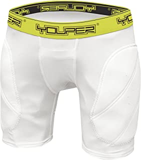 Youper Boys Youth Padded Sliding Shorts with Soft Protective Athletic Cup for Baseball, Football, Lacrosse, Field Hockey, MMA