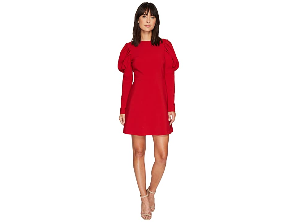 Nicole Miller Karli Bold Shoulder Dress (Red) Women