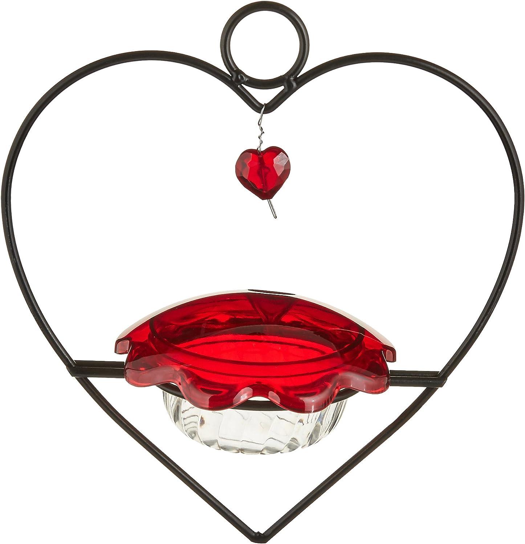 Bird's Choice Hummingbird Heart Feeder Medium Red