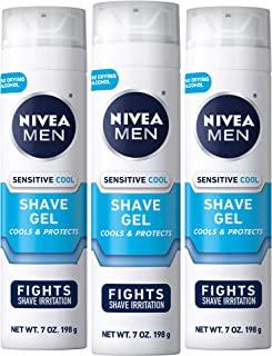 NIVEA Men Sensitive Cooling Shaving Gel - Gentle Cooling Sensation while Shaving - 7 oz. Can (Pack of 3)