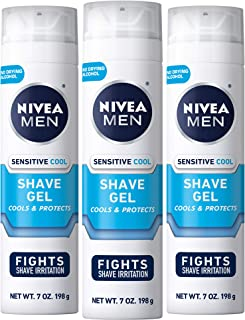 Nivea Men Sensitive Cooling Shaving Gel, 7 Ounce (Pack of 3)