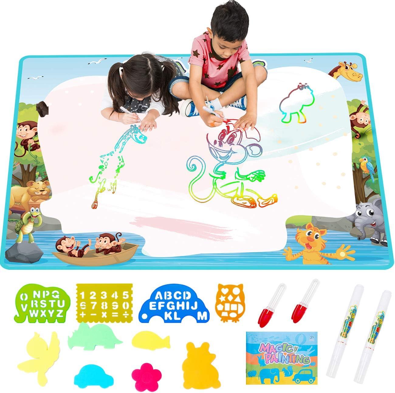 "Free-to-Fly 34.5"" x 22.4"" Aqua Water Drawing Magic Mat  $9.99 Coupon"