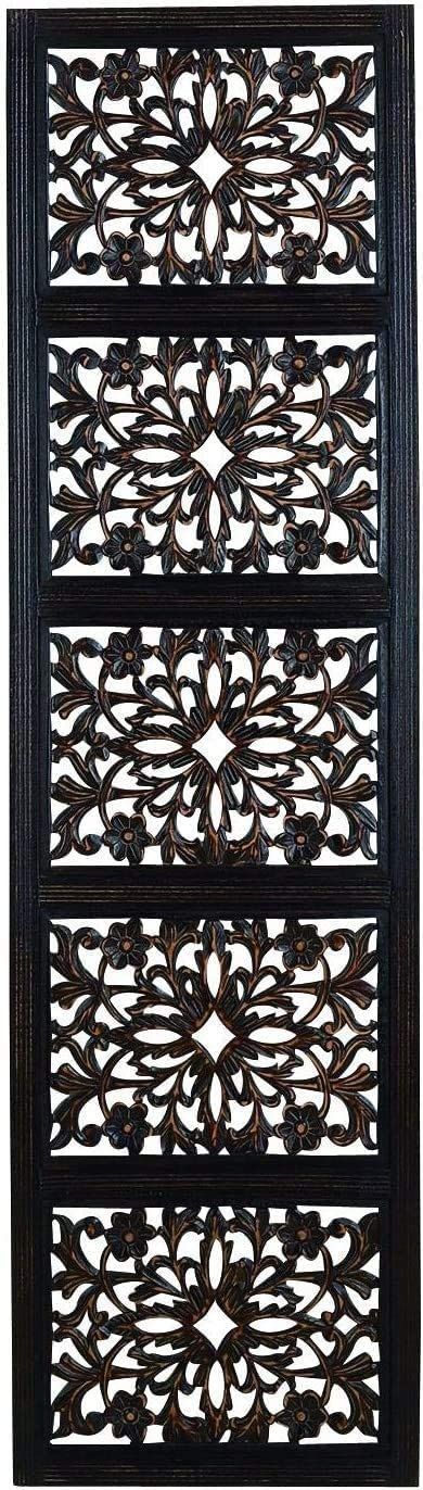 Carved Ebony Black Hand Carved Wood Wall Decor Sculpture 20