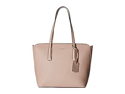 Kate Spade New York Margaux Medium Tote (Pale Vellum) Handbags