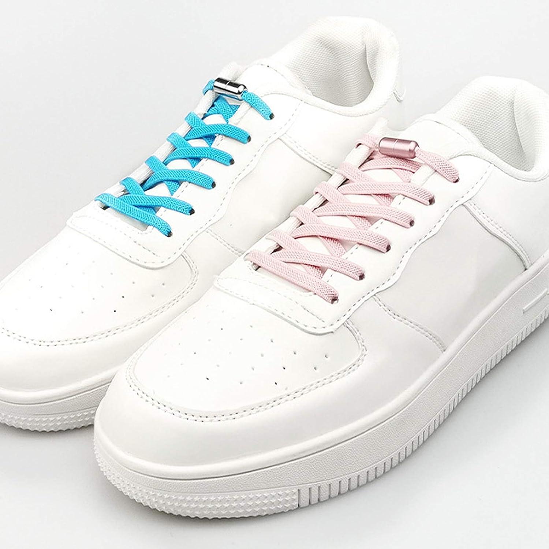 la course /à pied Lot de 2 paires de lacets /élastiques sans n/œud pour enfants et adultes les chaussures d/écontract/ées avec boutons color/és en forme de capsule en m/étal pour le sport