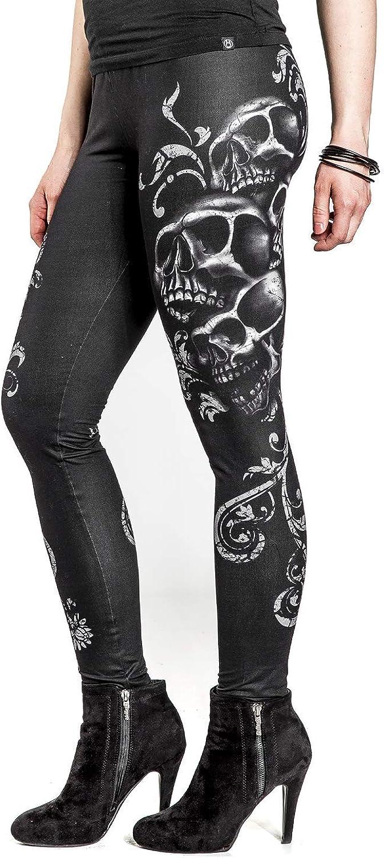 Skinny Rock Rebel by EMP Built for Comfort Femme Legging Noir