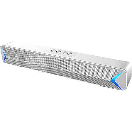 LXLTLB Sound Bar Wired Wireless, Sound Bar for TV Bluetooth 5.0, Soundbar with Built-in Subwoofer, Speaker for TV, HDMI/Optical/Aux/USB Input,Surround Sound System for TV,White