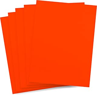 Rozzy Crafts - Orange Heat Transfer Vinyl (HTV) - Matte and Smooth - 5 Sheets Each 12 inches by 10 inches - Works with Cricut, Silhouette, and All Other Cutting Machines