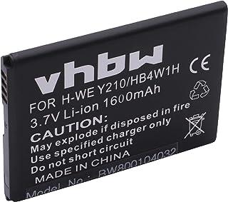 vhbw Li-Ion batería 1600mAh (3.7V) para teléfono móvil Smartphone Huawei Ascend Y530, T8951, U8951D, C8813 sustituye HB4W1...