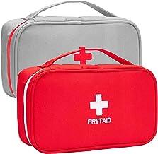 Zuzer Medizinische Notfalltasche,2PCS Medizin Aufbewahrungstasche Leer Medikamententasche Erste Hilfe Set für Camping Outdoor-Reisen